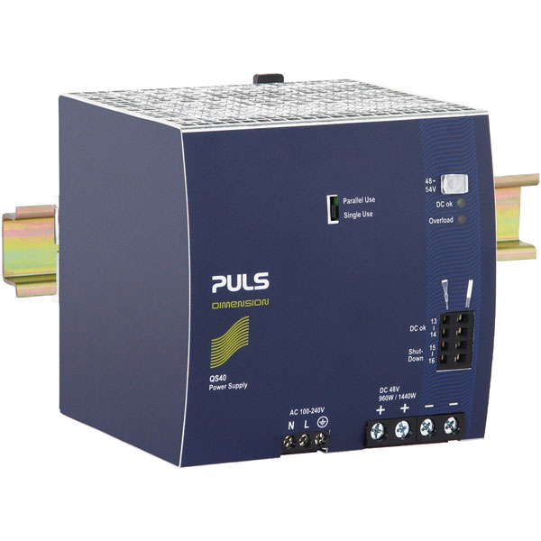 PULS QS40.481 DIN Rail Power Supply Single Phase 48VDC 20A 960W