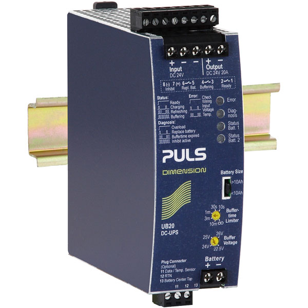 PULS UB20.241 DIN Rail Power Supply Single Phase 24VDC 20A 480W