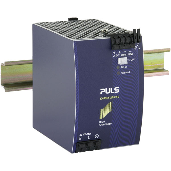 PULS QS20.241-C1 DIN Rail Power Supply Single Phase 24VDC 20A 480W