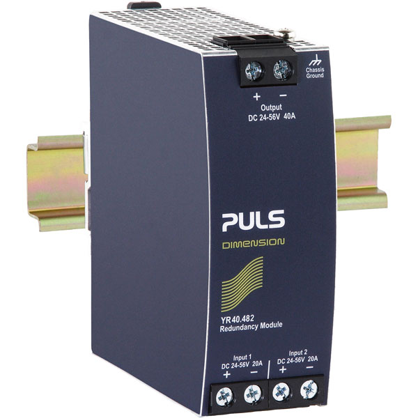 PULS YR40.482 DIN Rail Power Supply Redundancy Module 48VDC 40A