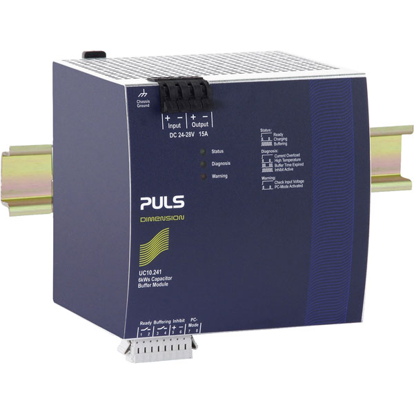 PULS UC10.241 DIN Rail Power Supply Single Phase 22.5VDC 15A 360W