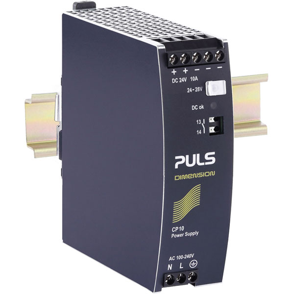 PULS CP10.241 DIN Rail Power Supply Single Phase 24VDC 10A 240W