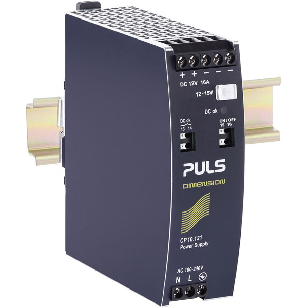 PULS CP10.121 DIN Rail Power Supply Single Phase 12VDC 16A 192W