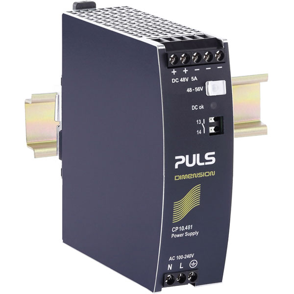 PULS CP10.481 DIN Rail Power Supply Single Phase 48VDC 5.4A 259W