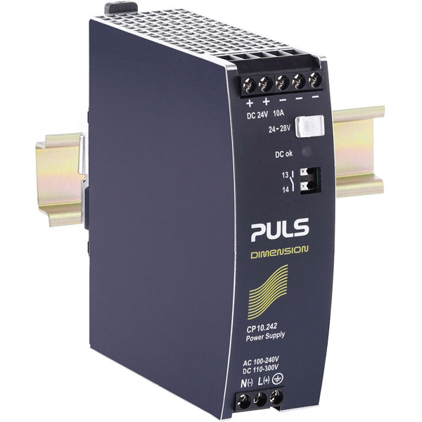 PULS CP10.242 DIN Rail Power Supply Single Phase 24VDC 10A 240W