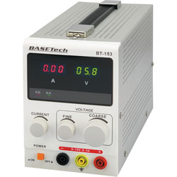 Basetech BT-153 Bench PSU Single Output 0-15VDC 0-3A 45W