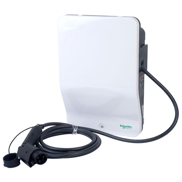 Schneider Electric EVH2S7P0AK 7.4kW Charger with attached cable an...