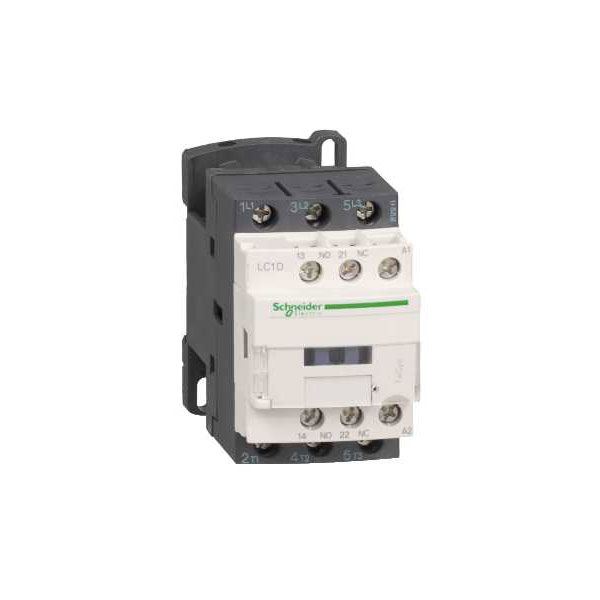 Image of Schneider Electric LC1D18B7 TeSys Contactor 18A 24VAC 50/60Hz