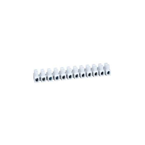 Image of Schneider Electric 3000420 12-Way Terminal Strips White 5A (pack o...