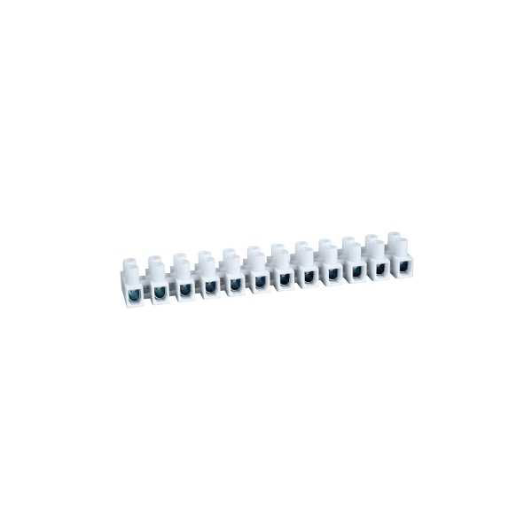 Image of Schneider Electric 3000430 12-Way Terminal Strips White 15A (pack ...