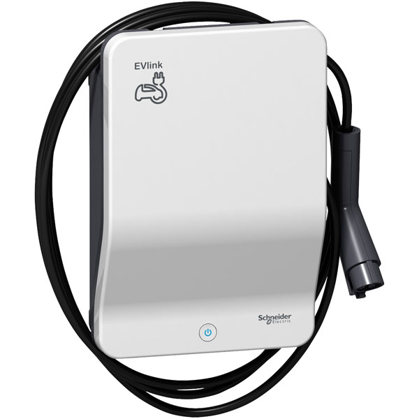 Schneider Electric EVB1A7PAKI 7kW Charger with 4.5m Cable Type 1 P...