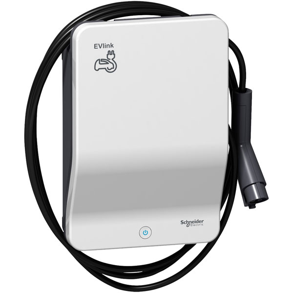 Schneider Electric EVB1A7PARI 7kW Charger with 4.5m Cable Type 1 P...