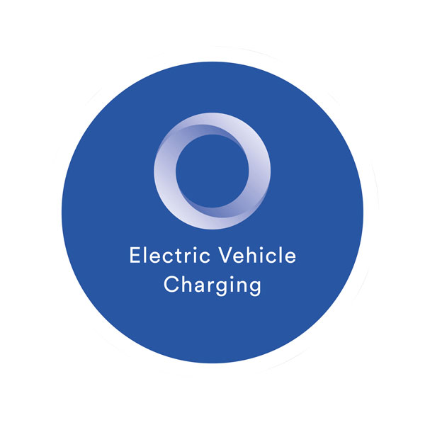 EO Charging Wall Mounted EV Charger Sign - EV Charging