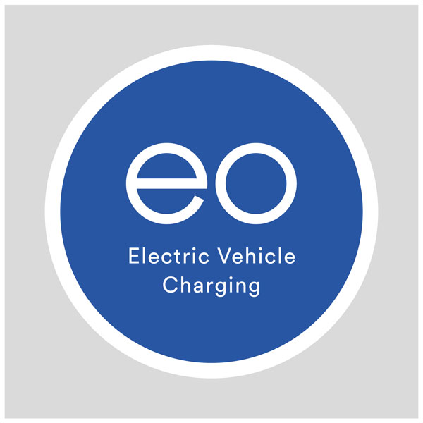 EO Charging Post Mounted EV Charger Sign - EO Electric Vehicle Cha...