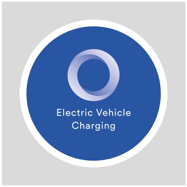 EO Charging Post Mounted EV Charger Sign - EV Charging