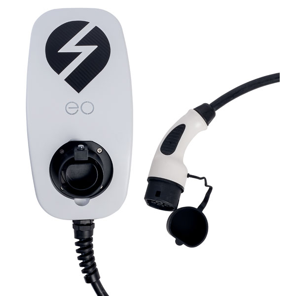 EO EG009-T2-DCL-ALM eoBASIC 3.6kW/16A 1PH Type 2 5m Tethered White DCL