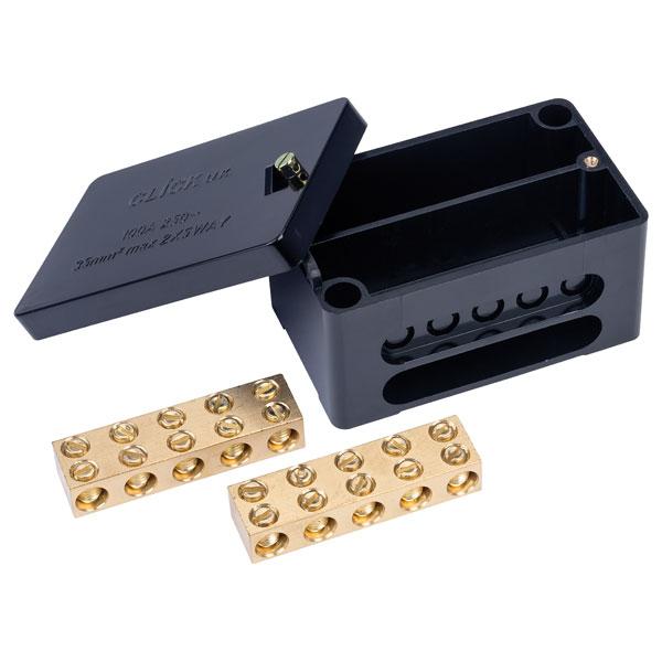 Click WA228 100A 2 Pole Heavy Duty Connector Box Black