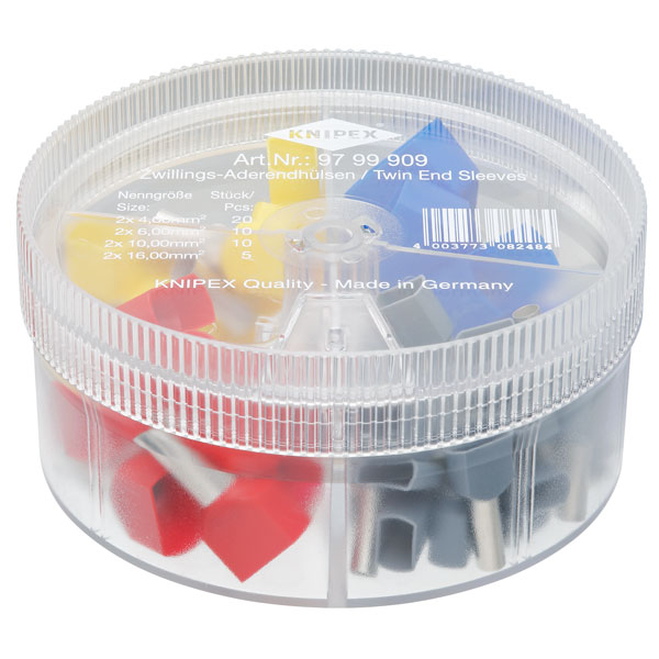 Knipex 97 99 909 Assortment Box With Insulated Twin End Sleeves (F...