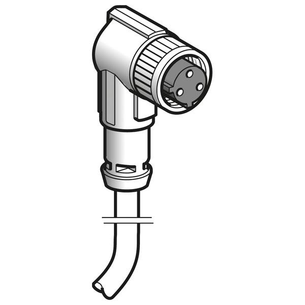 Telemecanique XZCP1965L5 1/2'' 20 UNF Elbowed Female 5M Cable Pre-...