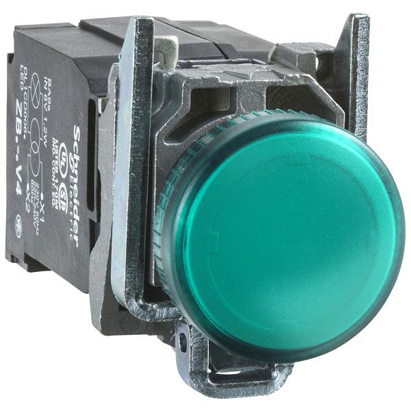Image of Schneider XB4BVB3 Green 24V Panel Mount Indicator