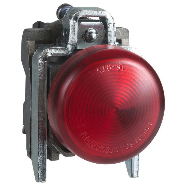 Image of Schneider XB4BVB4 Red 24V Panel Mount Indicator