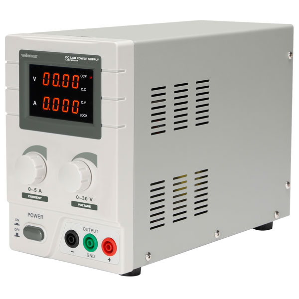 Image of Velleman DC Lab Power Supply 0-30 VDC / 0-5A Max Dual LED Display