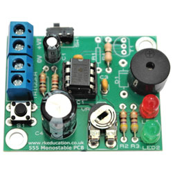 RK Education 555 Monostable Project - with Buzzer
