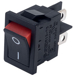 SCI R13-73A2 RED DPST Visible On Rocker Switch Red