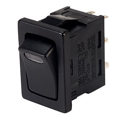 SCI R13-66AE-02 SPST Rocker Switch with LED