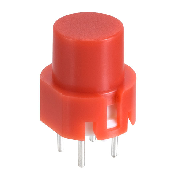 Image of Taiwan Alpha SK1202001027RNR3 D6 Round Red Keyboard Switch
