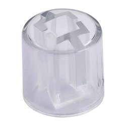 RVFM KB-R05AC-PC-T Round Clear Switch Cap Large