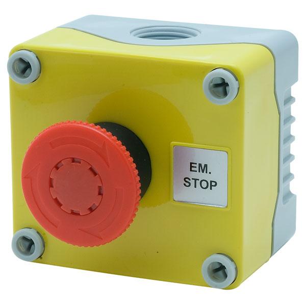 Hylec 1DE.01.01AG IP66 E-Stop Button Twist Release Station