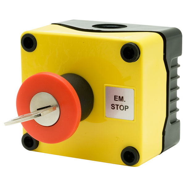 Hylec 1DE.01.03AB IP56 E-Stop Button Key Switch Reset Station