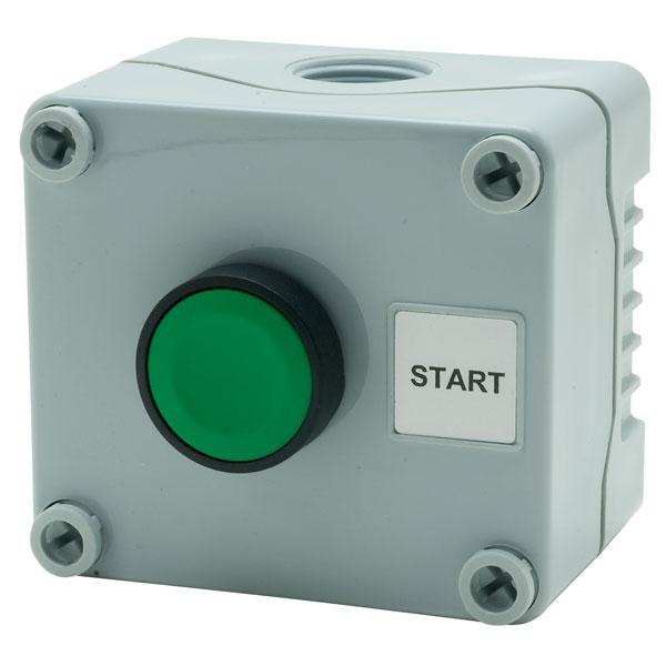 Hylec 1DE.01.06AG Single Stop/start Push Button 22mm Green