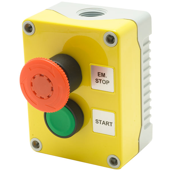 Hylec 1DE.02.01AG Emergency Stop with Green Start Push Button