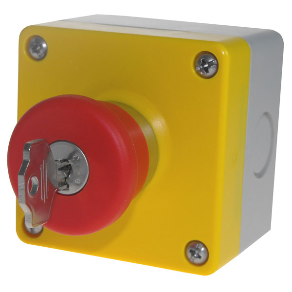 CamdenBoss CSC1-60 E-Stop Box Key Release Plastic Switch Body Red