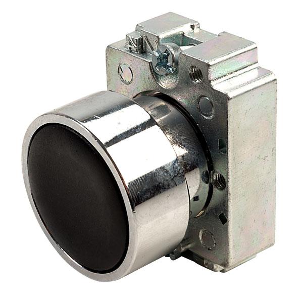 Europa Components RCAS-PBF2 Flush Button Switch Black
