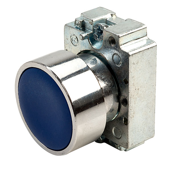 Europa Components RCAS-PBF6 Flush Button Switch Blue