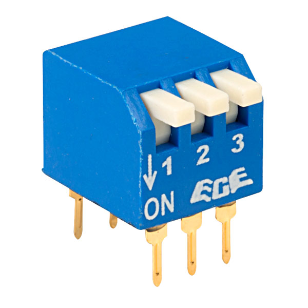 ECE EPG103A 3 Pole 6 Pin Piano DIL Switch