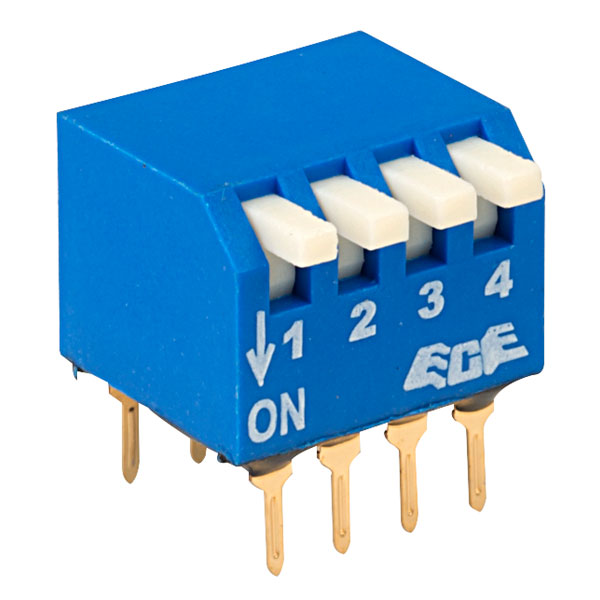 ECE EPG104A 4 Pole 8 Pin Piano DIL Switch