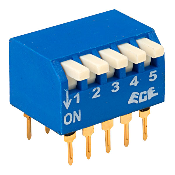 ECE EPG105A 5 Pole 10 Pin Piano DIL Switch