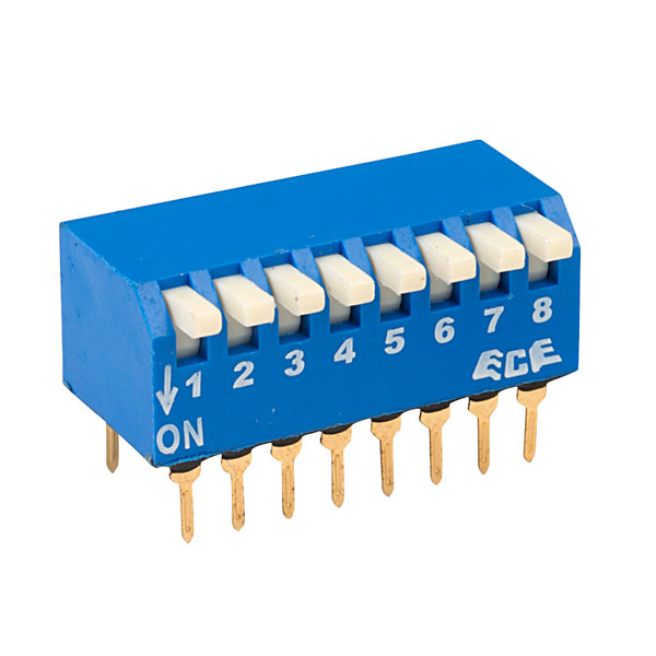 ECE EPG108A 8 Pole 16 Pin Piano DIL Switch