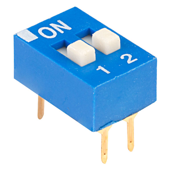 ECE EDG102S Excel 2 Pole 4 Pin DIL Switch