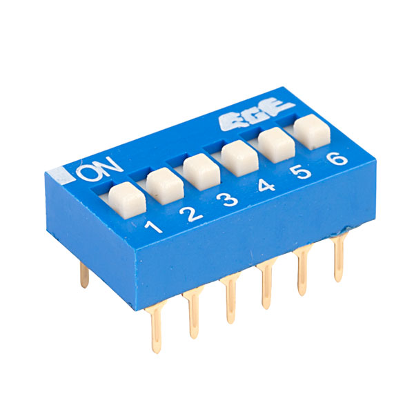 ECE EDG106S Excel 6 Pole 12 Pin DIL Switch