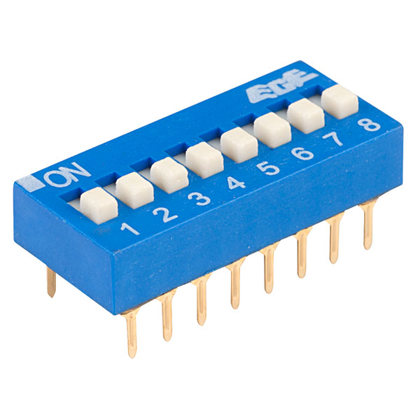 ECE EDG108S Excel 8 Pole 16 Pin DIL Switch