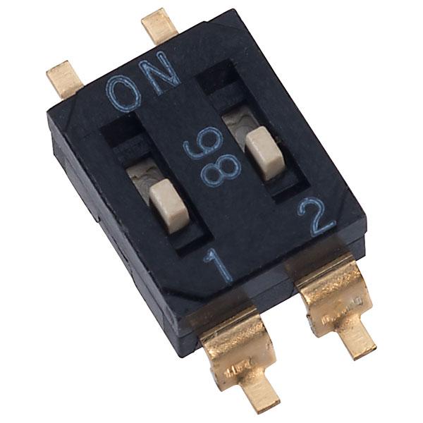 Diptronics EM-02 2 Pole 4 Pin SMD DIL Switch