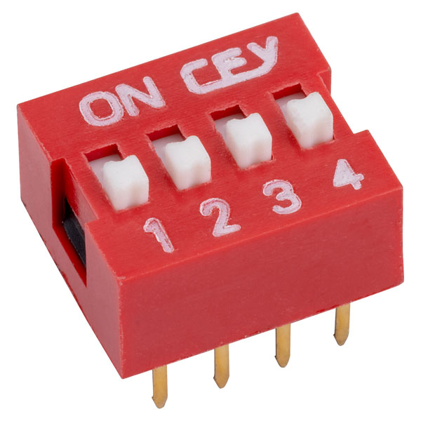 RVFM DS1040-4 RN DIL Switch 4-way 8-pin