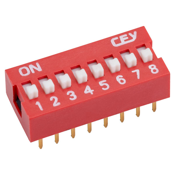 RVFM DS1040-8 RN DIL Switch 8-way 16-pin