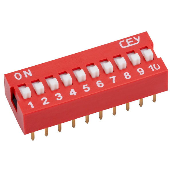 RVFM DS1040-10 RN DIL Switch 10-way 20-pin