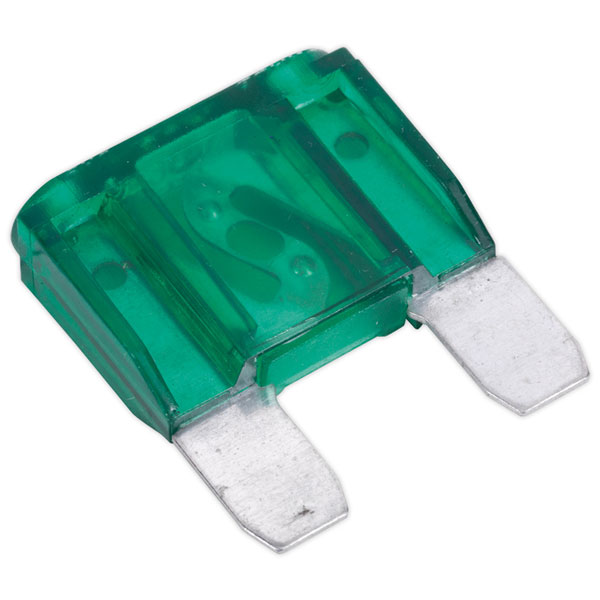 Image of Sealey MF3010 Automotive MAXI Blade Fuse 30A Pack of 10